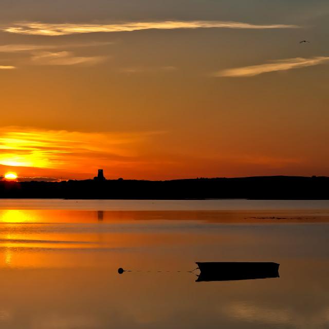 """Sundown at Holyhead"" stock image"