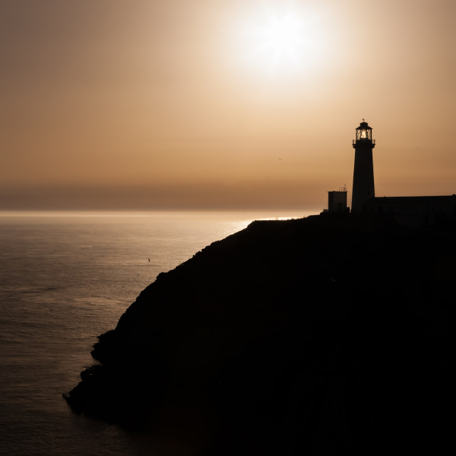 """""""South Stack Lighthouse"""" stock image"""