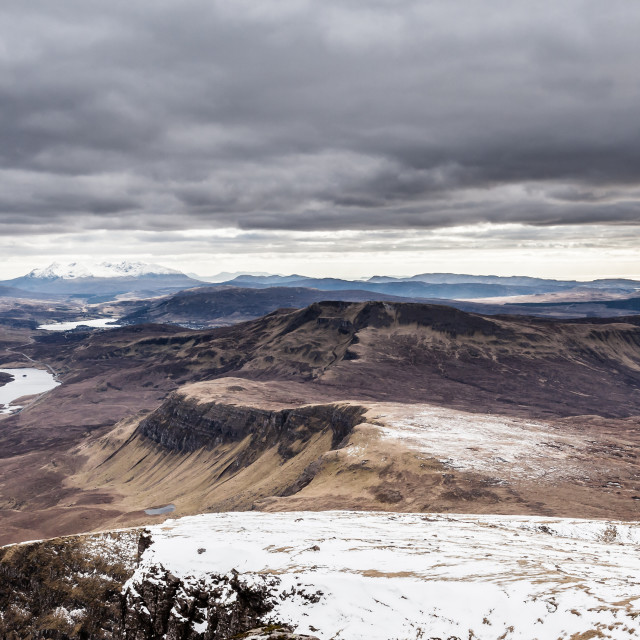 """View from Old Man of Storr"" stock image"