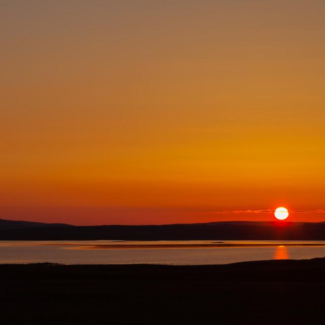 """Orkney Sunset"" stock image"