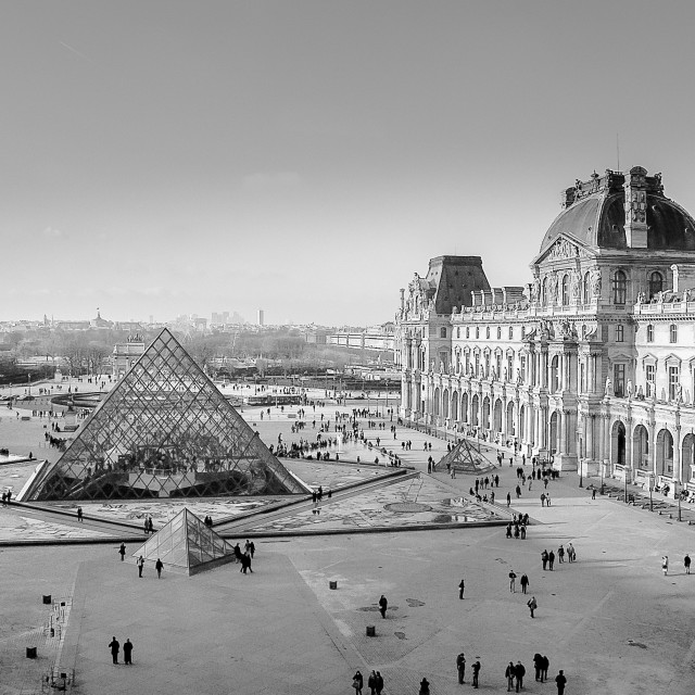"""""""The Louvre"""" stock image"""