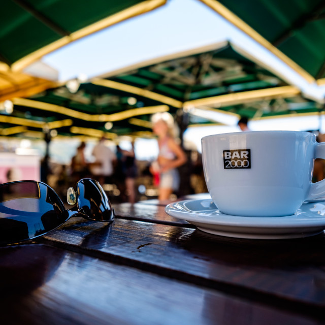 """A coffee in Dubrovnik"" stock image"
