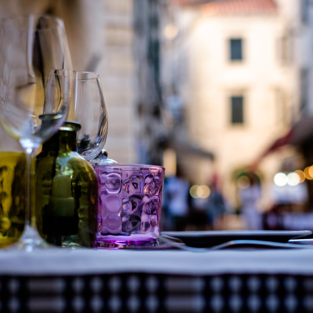 """Al Fresco in Dubrovnik"" stock image"