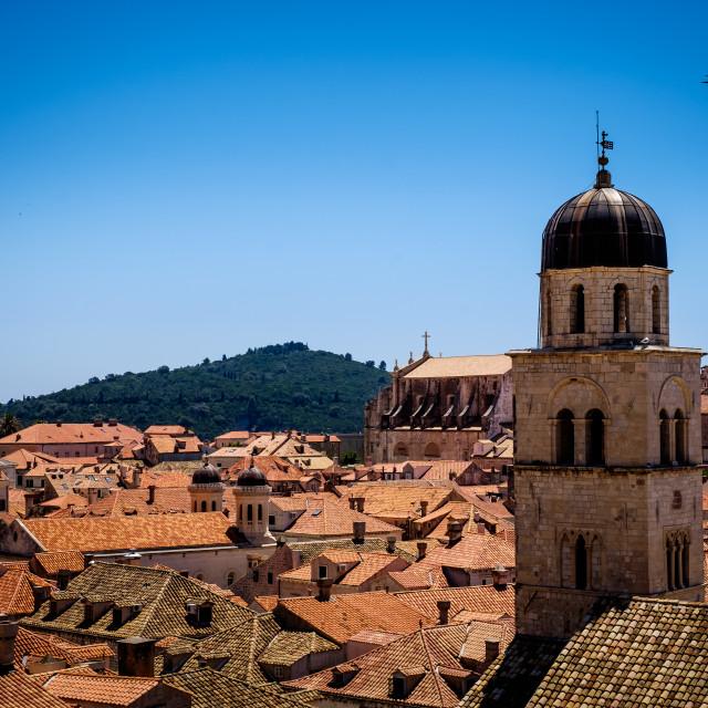 """Dubrovnik Rooftops"" stock image"