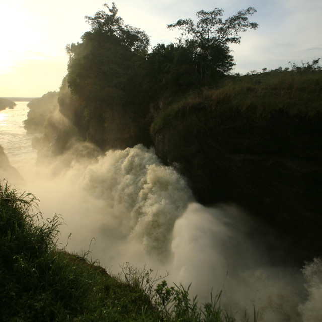 """the Nile River, Murchison Falls, Murchison Falls National Park,..."" stock image"