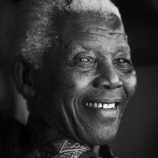"""""""Nelson Mandela Portraits"""" stock image"""