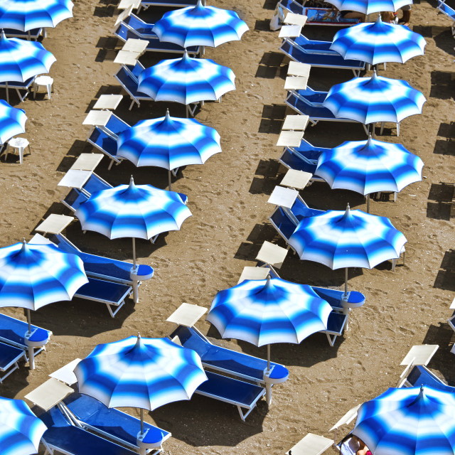 """Mediterranean beach during hot summer day"" stock image"