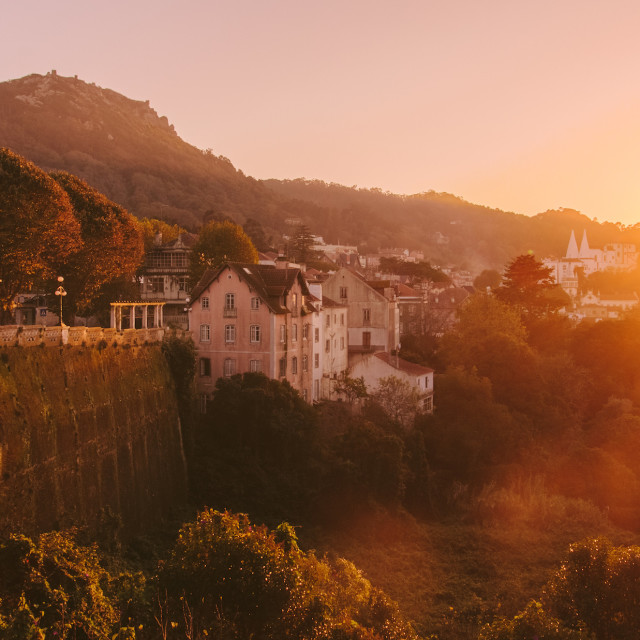 """""""Sunset in Sintra"""" stock image"""