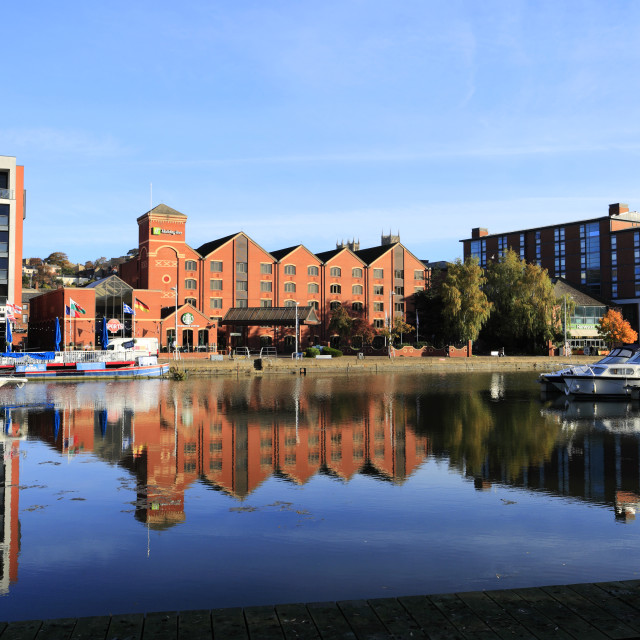 """""""The Brayford Waterfront; Lincoln Marina; Lincoln City, Lincolnshire County,..."""" stock image"""