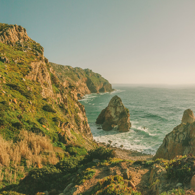 """Atlantic ocean coast in Portugal"" stock image"