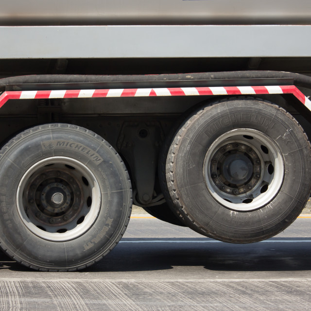 """Michelin XZE 2 Tyres of Truck."" stock image"