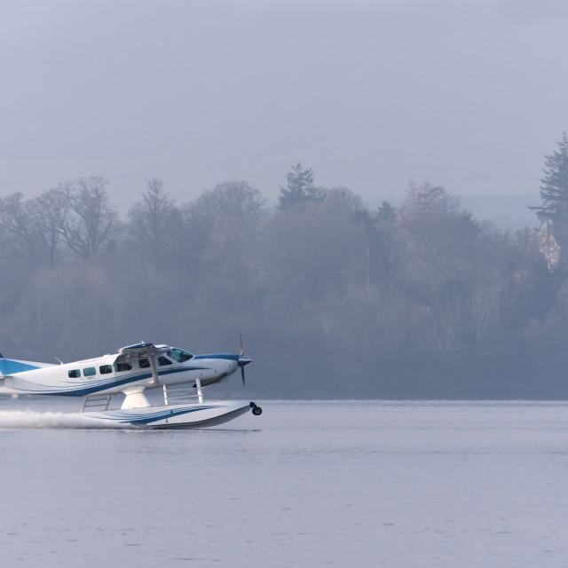 """Seaplane taking off"" stock image"