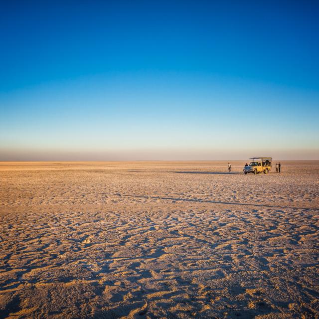 """Makgadikgadi Salt Pan"" stock image"