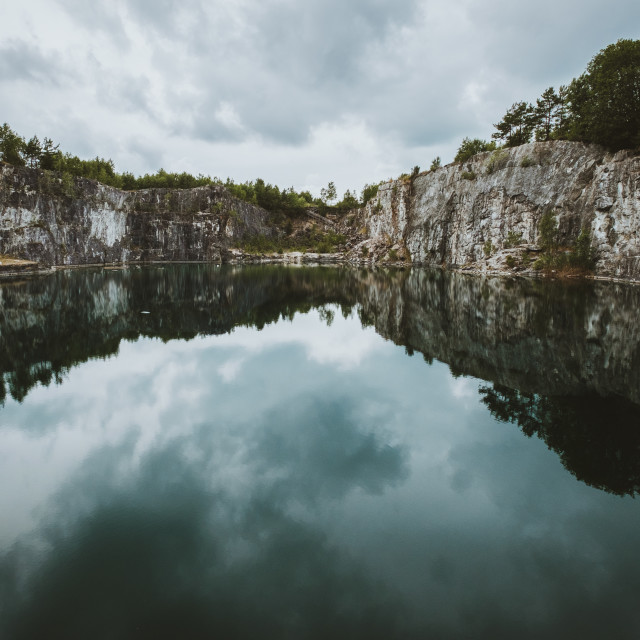 """Limestone quarry"" stock image"