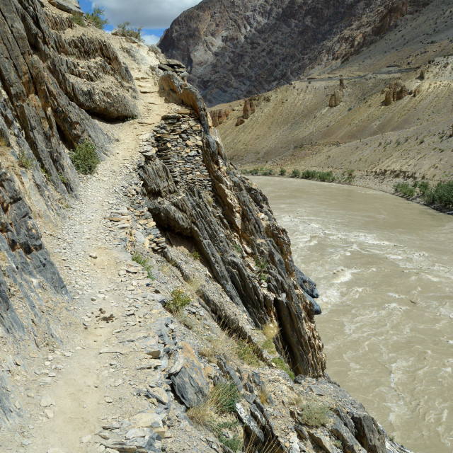 """Along the Zanskar"" stock image"