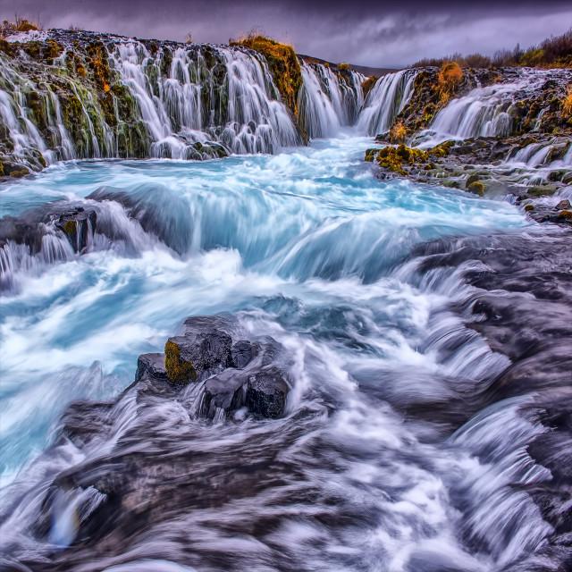 """Bruarfoss Falls, Iceland"" stock image"