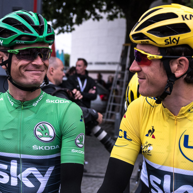 """Yellow and Green Jersey"" stock image"