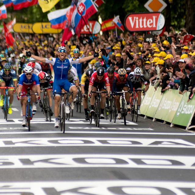 """Winner Stage 2 Tour de France"" stock image"