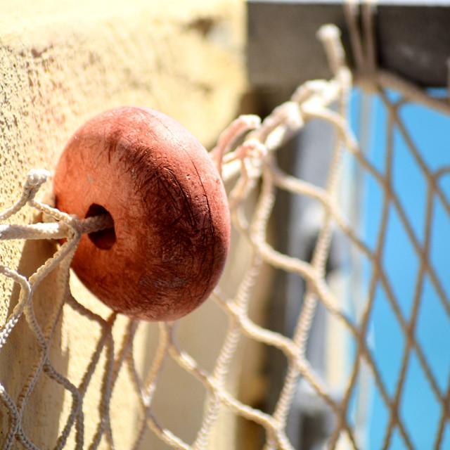 """""""Fishing net at the Italian coast"""" stock image"""