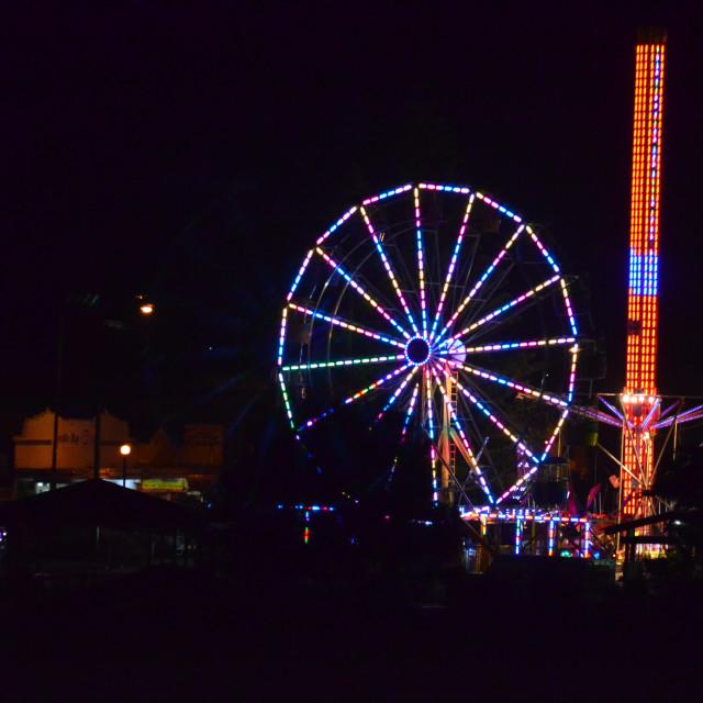 """Apollo Bay Summer night festival"" stock image"