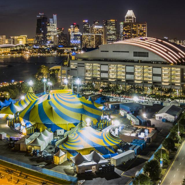 """""""Cirque du Soleil at Singapore"""" stock image"""