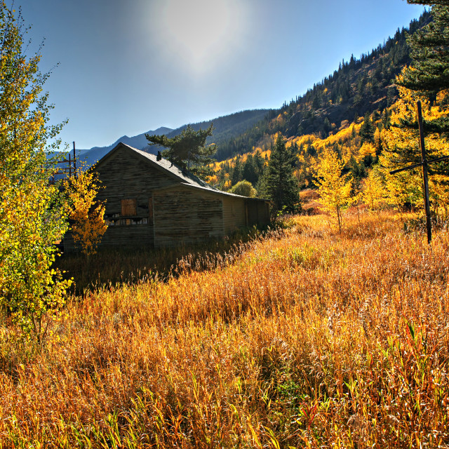 """""""Autumn at Rollins Pass Moffat Tunnel"""" stock image"""
