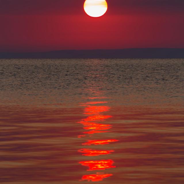 """Beautiful sunrise in lake Balaton-Hungary"" stock image"