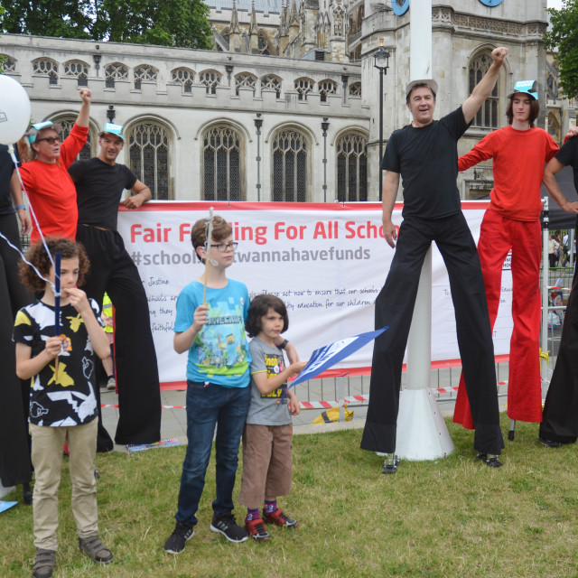 """""""carnival against the cuts"""" stock image"""
