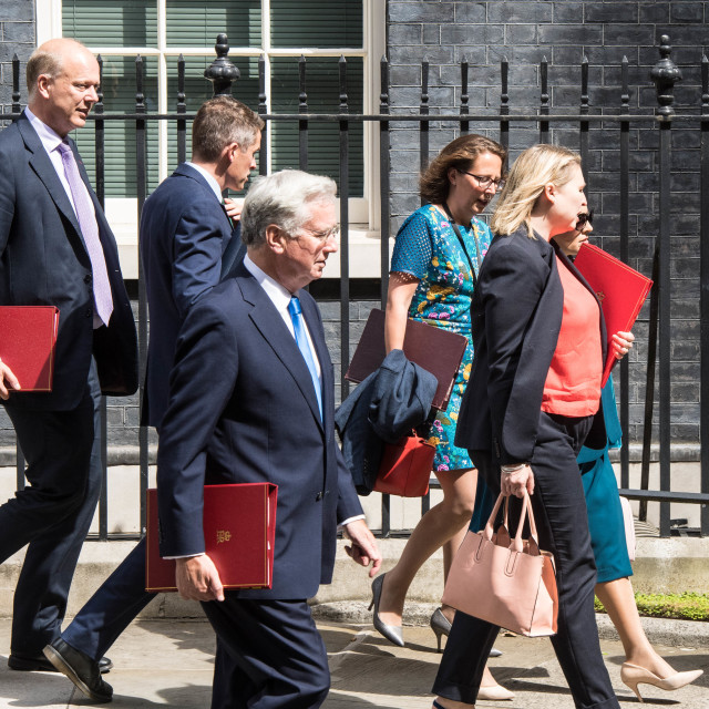 """Cabinet meeting, Downing Street"" stock image"