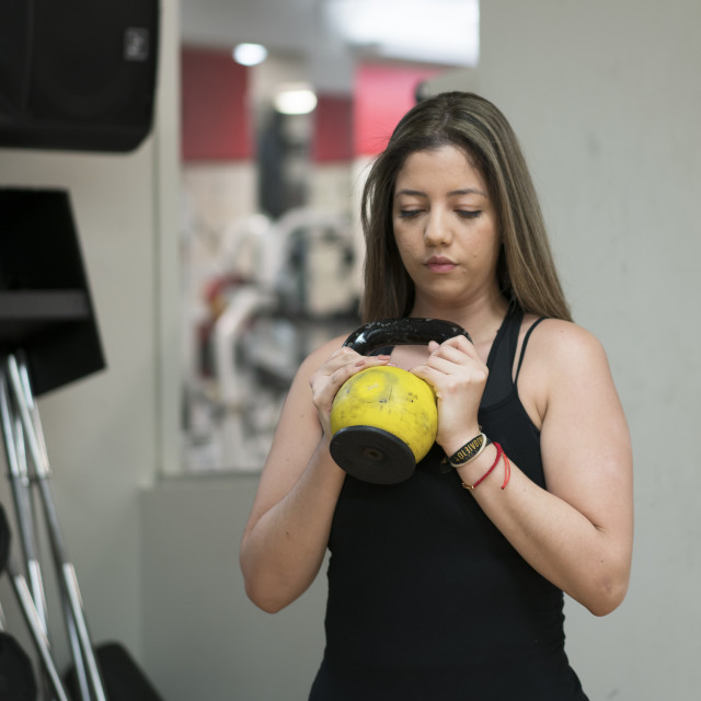 """""""Weight Exercises"""" stock image"""