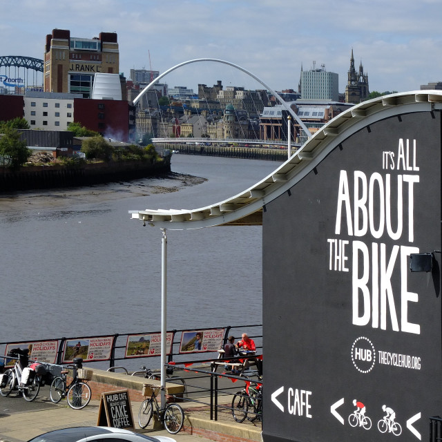 """the cycle hub newcastle upon tyne"" stock image"