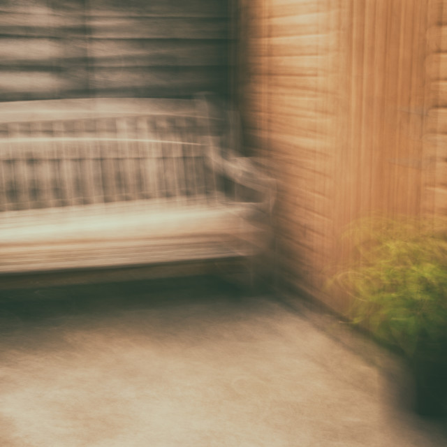 """The Garden Bench"" stock image"