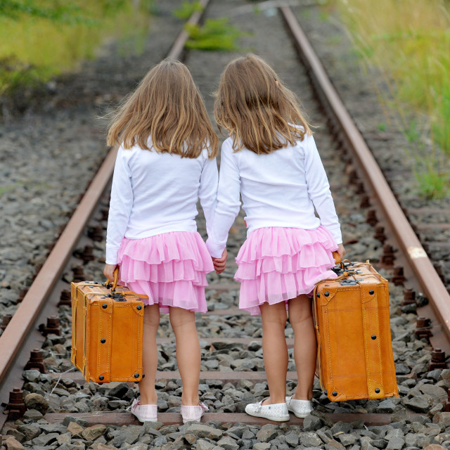 """Twin Girls"" stock image"
