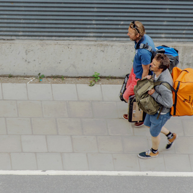 """Backpackers"" stock image"
