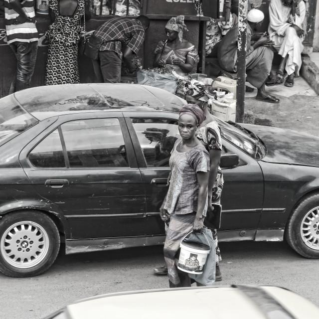 """Street Life in Serrekunda"" stock image"