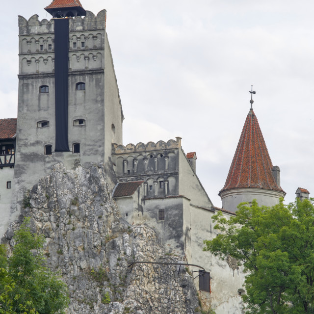 """Dracula's Castle, built on a rock"" stock image"