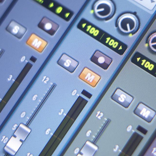 """""""Recording studio mixing desk"""" stock image"""
