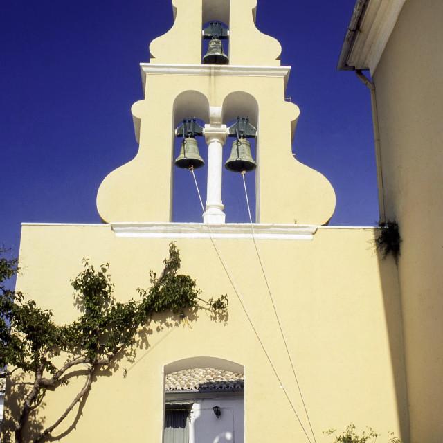 """Monastery of Palaiokastritsa, Corfu, Greece."" stock image"