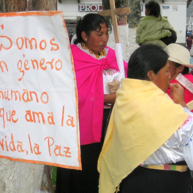 """""""La Vida, La Paz"""" stock image"""