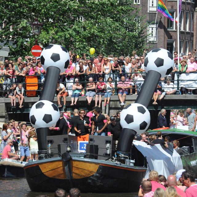 """Amsterdam Pride Canal Parade"" stock image"