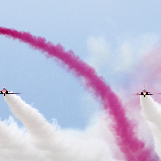"""RAF Red Arrows head on"" stock image"