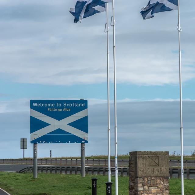 """Scottish Border"" stock image"