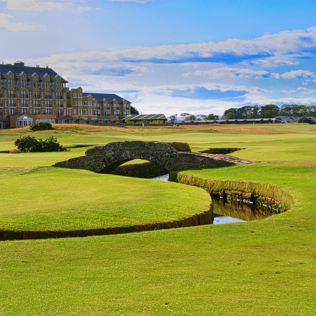 """The Old Course St Andrews,"" stock image"