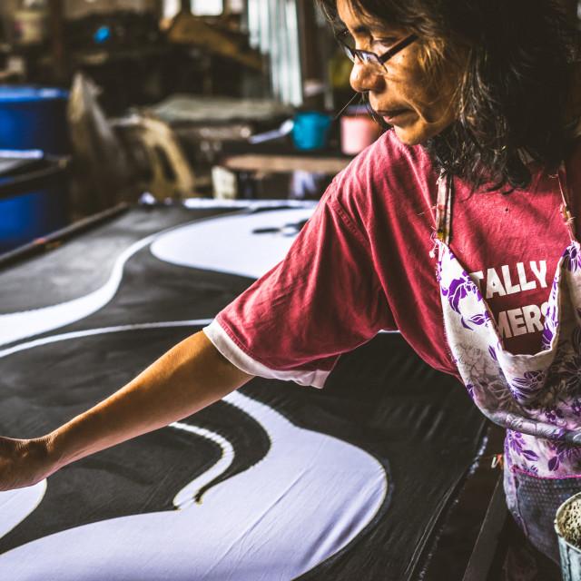 """Making of Batik"" stock image"