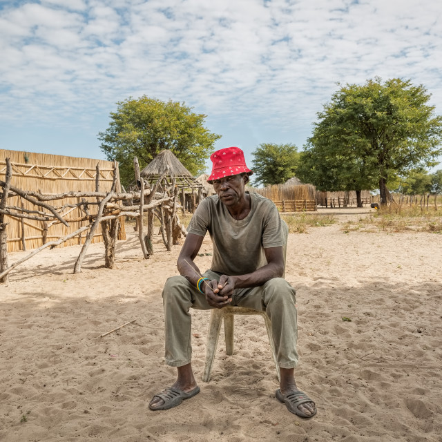 """""""African Village Chief"""" stock image"""