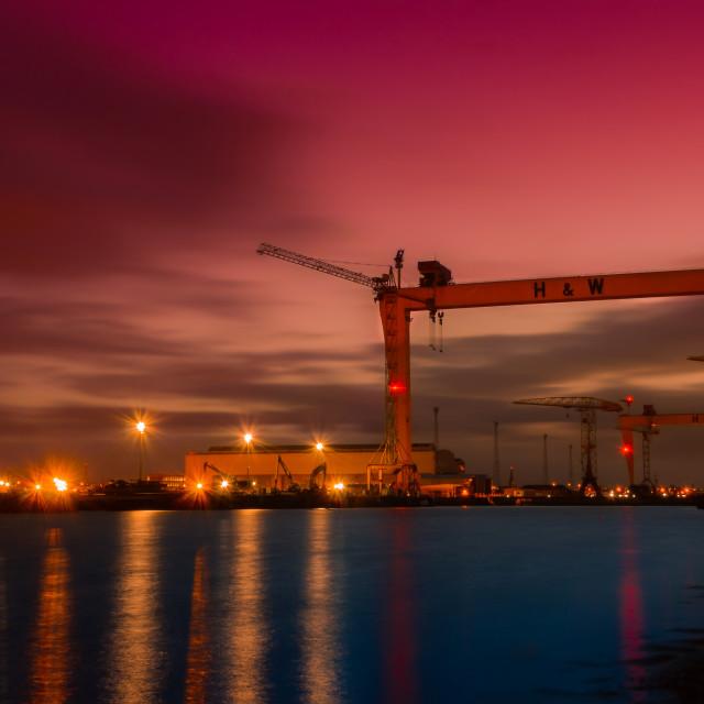 """""""Belfast Docklands"""" stock image"""