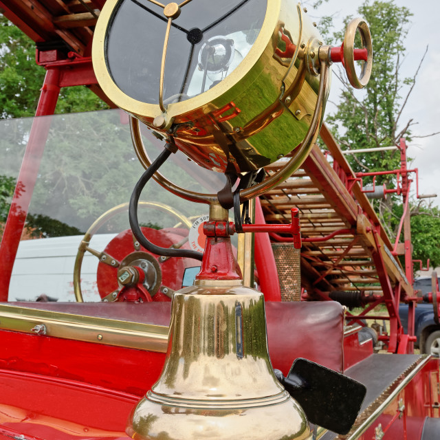 """""""Fire Bell and Searchlight"""" stock image"""