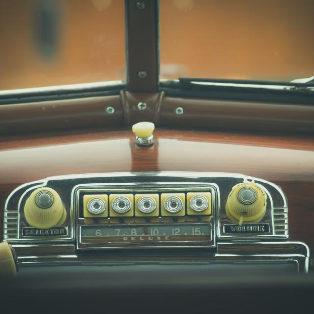 """Vintage AM Radio"" stock image"