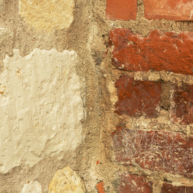 """Old stone wall and brick"" stock image"