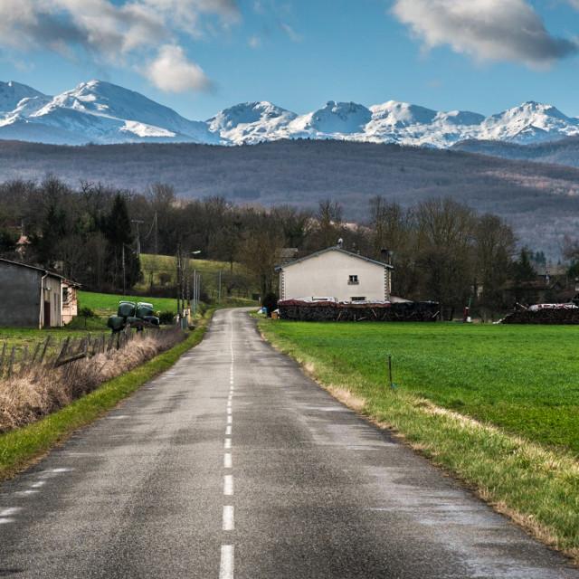 """Mountain road"" stock image"